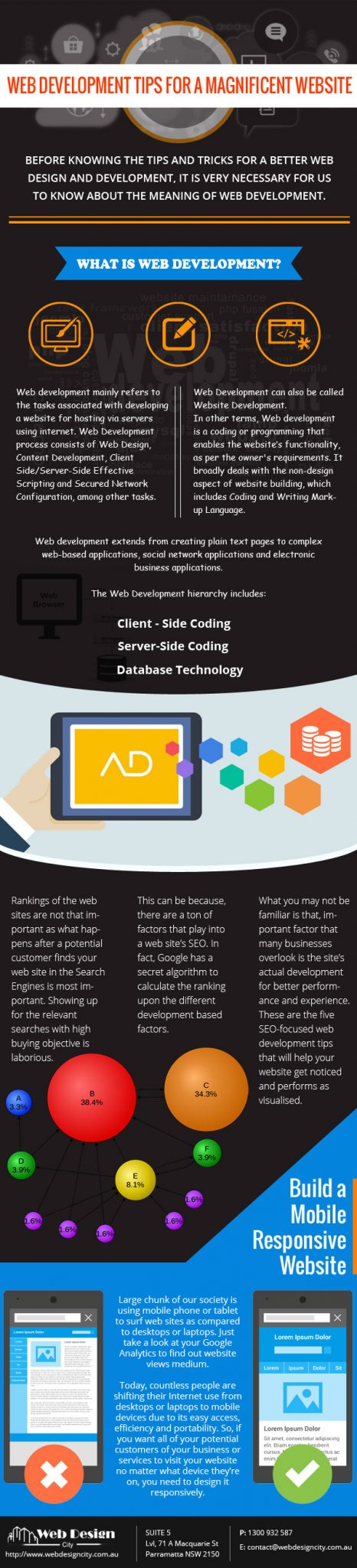 Web Development TIPS Infographic