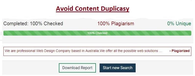 Content Plagiarism/ Duplicasy