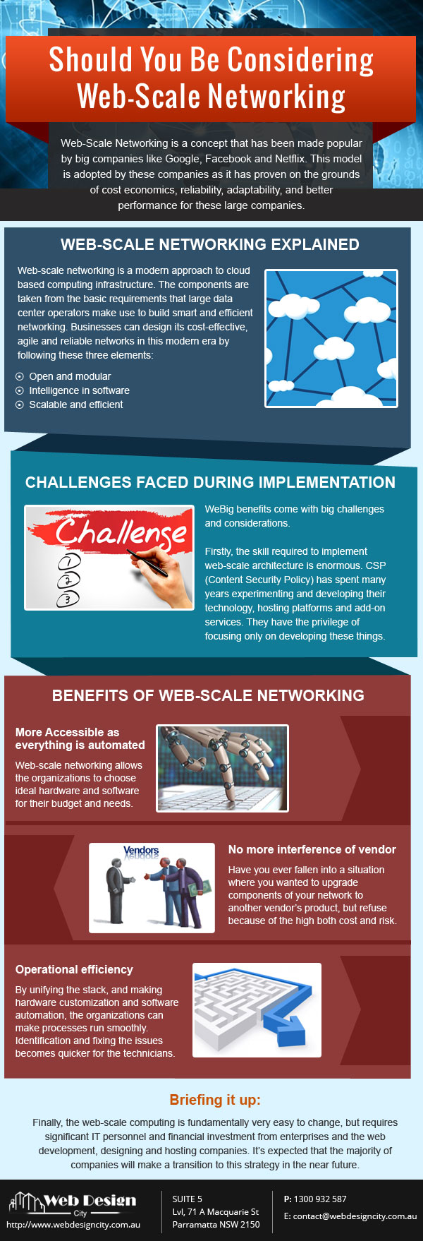 Should you be considering web scale networking infograph
