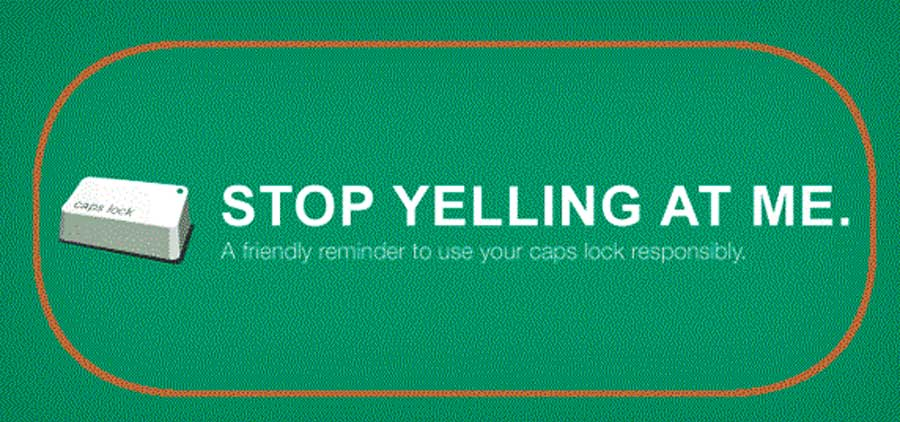 Avoid Capitalisting Your Words