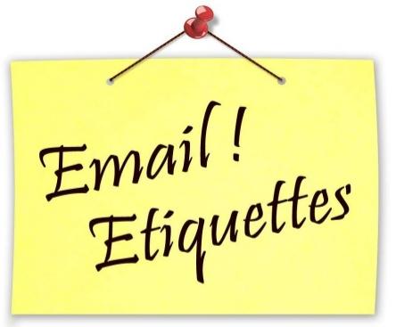 E-mail etiquettes
