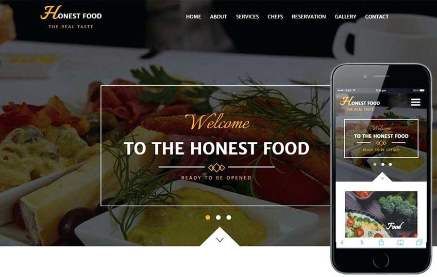 Well designed Website for Restaurant