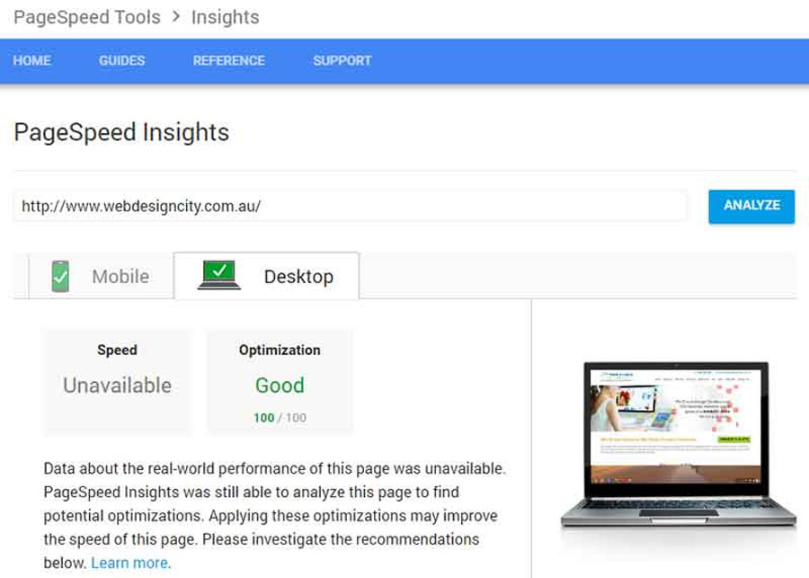 Optimising Google Page Speed Insights - Tools and Options